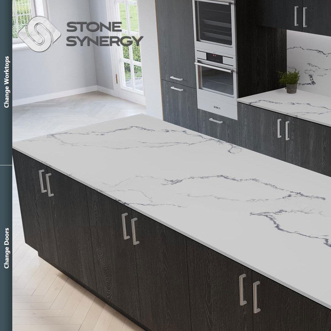 Visualiser for black sparkle kitchen worktops